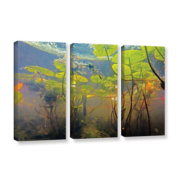 Brushstone Lake Hope UW #1 3-pc. Gallery Wrapped Canvas Wall Art
