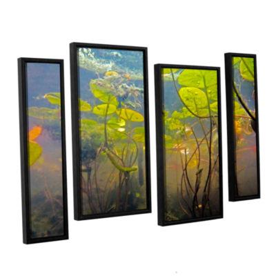 Brushstone Lake Hope UW #1 4-pc. Floater Framed Staggered Canvas Wall Art