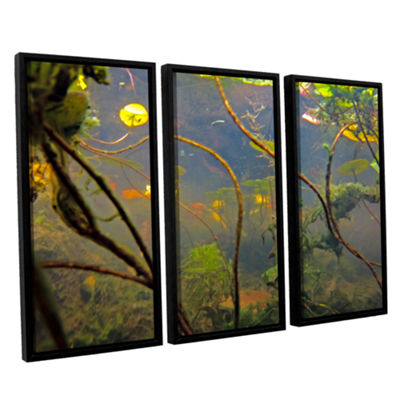 Brushstone Lake Hope UW #4 3-pc. Floater Framed Canvas Wall Art