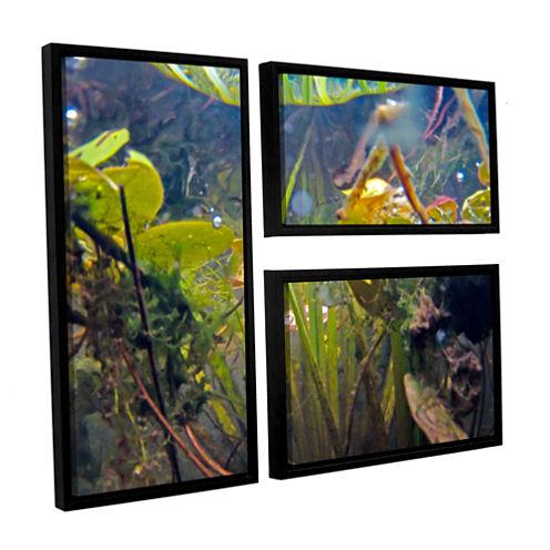 Brushstone Lake Hope UW #6 3-pc. Flag Floater Framed Canvas Wall Art