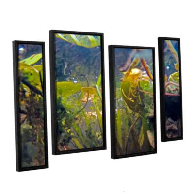 Brushstone Lake Hope UW #6 4-pc. Floater Framed Staggered Canvas Wall Art