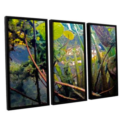 Brushstone Lake Hope UW #7 3-pc. Floater Framed Canvas Wall Art