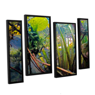 Brushstone Lake Hope UW #7 4-pc. Floater Framed Staggered Canvas Wall Art