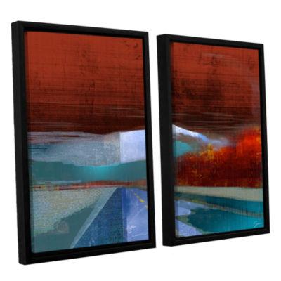 Brushstone Landscape I 2-pc. Floater Framed Canvas Wall Art
