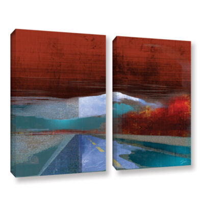 Brushstone Landscape I 2-pc. Gallery Wrapped Canvas Wall Art