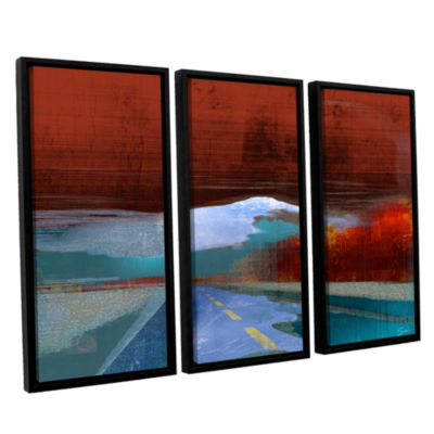 Brushstone Landscape I 3-pc. Floater Framed Canvas Wall Art