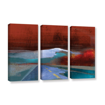 Brushstone Landscape I 3-pc. Gallery Wrapped Canvas Wall Art