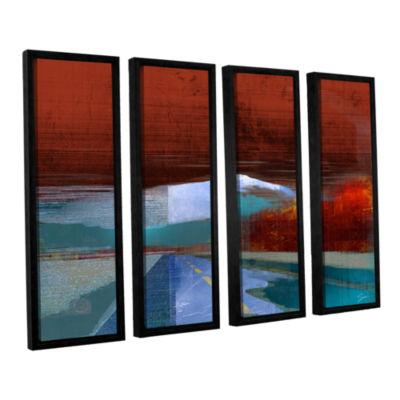 Brushstone Landscape I 4-pc. Floater Framed Canvas Wall Art