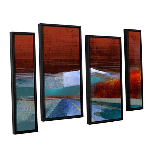 Brushstone Landscape I 4-pc. Floater Framed Staggered Canvas Wall Art