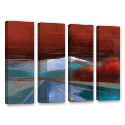 Brushstone Landscape I 4-pc. Gallery Wrapped Canvas Wall Art