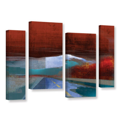 Brushstone Landscape I 4-pc. Gallery Wrapped Staggered Canvas Wall Art