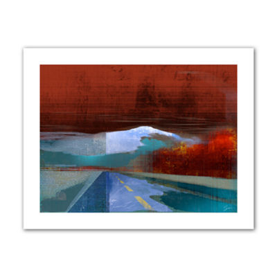 Brushstone Landscape I Canvas Wall Art
