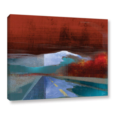 Brushstone Landscape I Gallery Wrapped Canvas WallArt