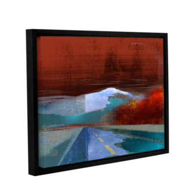 Brushstone Landscape I Gallery Wrapped Floater-Framed Canvas Wall Art
