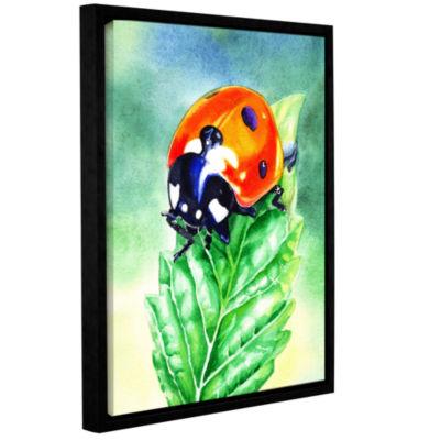 Brushstone Ladybug Gallery Wrapped Floater-FramedCanvas Wall Art