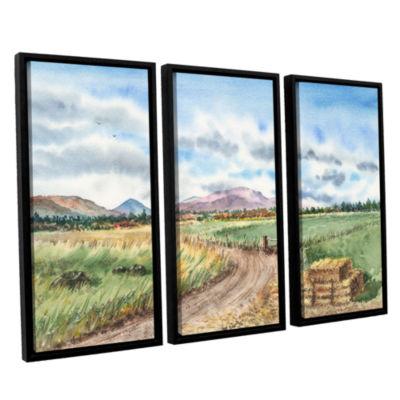 Brushstone Landscape Mountain Shasta 3-pc. FloaterFramed Canvas Wall Art