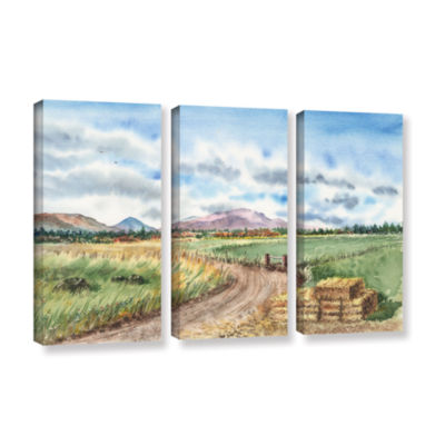 Brushstone Landscape Mountain Shasta 3-pc. GalleryWrapped Canvas Wall Art