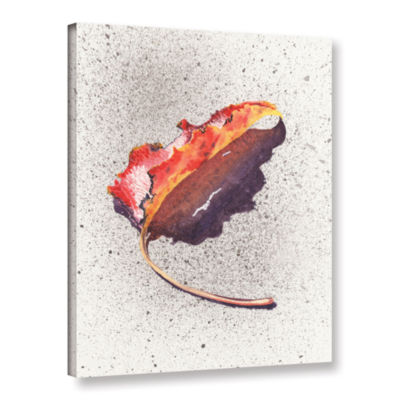 Brushstone Leaf On Fire Gallery Wrapped Canvas Wall Art