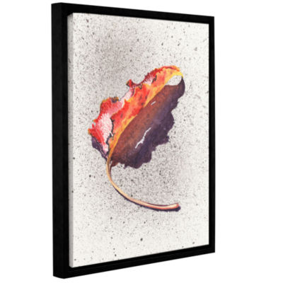 Brushstone Leaf On Fire Gallery Wrapped Floater-Framed Canvas Wall Art