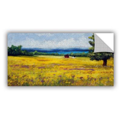 Brushstone Lake Side Mustard Field Removable WallDecal