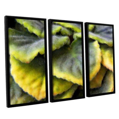 Brushstone Layers 3-pc. Floater Framed Canvas WallArt