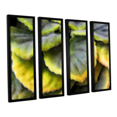 Brushstone Layers 4-pc. Floater Framed Canvas Wall Art