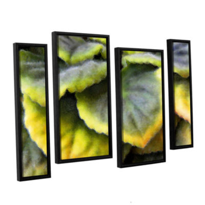 Brushstone Layers 4-pc. Floater Framed Staggered Canvas Wall Art