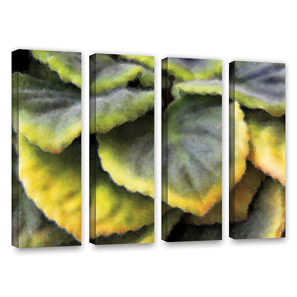 Brushstone Layers 4-pc. Gallery Wrapped Canvas Wall Art