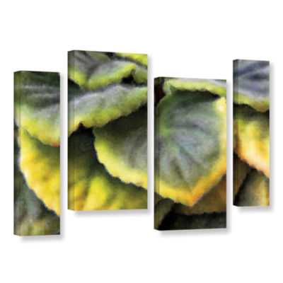 Brushstone Layers 4-pc. Gallery Wrapped Staggered Canvas Wall Art