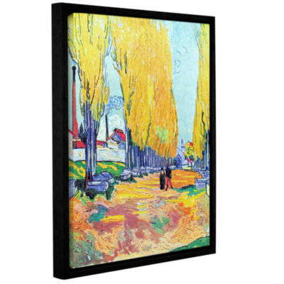 Brushstone Les Alyscamps Gallery Wrapped Floater-Framed Canvas Wall Art