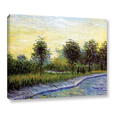 Brushstone Lane In Voyer D'Argensom Park At Asnieres Gallery Wrapped Canvas Wall Art