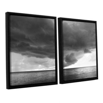 Brushstone Lake Erie Storm 2-pc. Floater Framed Canvas Wall Art