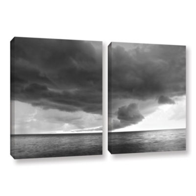 Brushstone Lake Erie Storm 2-pc. Gallery Wrapped Canvas Wall Art