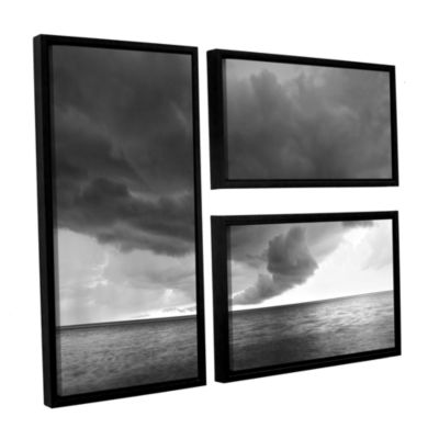 Brushstone Lake Erie Storm 3-pc. Flag Floater Framed Canvas Wall Art