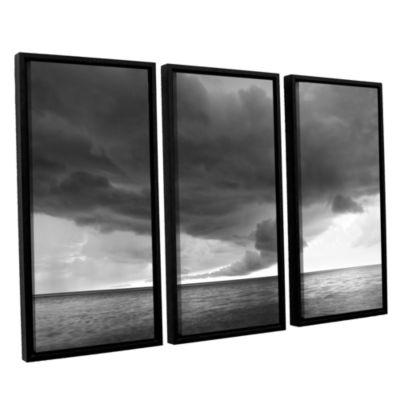 Brushstone Lake Erie Storm 3-pc. Floater Framed Canvas Set