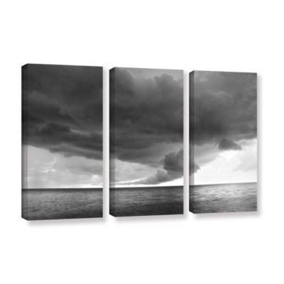 Brushstone Lake Erie Storm 3-pc. Gallery Wrapped Canvas Set