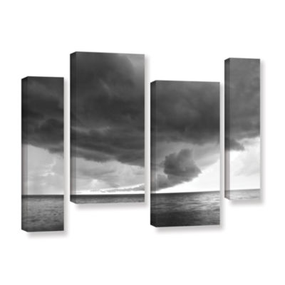 Brushstone Lake Erie Storm 4-pc. Gallery Wrapped Canvas Staggered Set