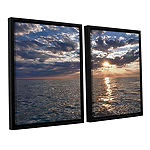 Brushstone Lake Erie Sunset I 2-pc. Floater FramedCanvas Set