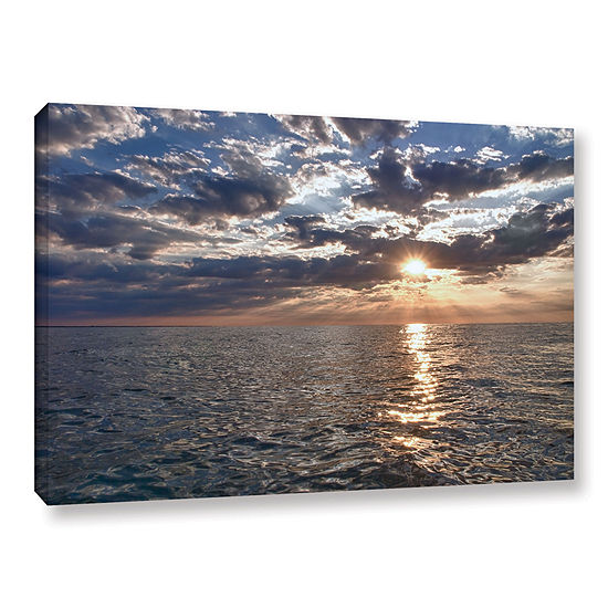Brushstone Lake Erie Sunset I Gallery Wrapped Canvas
