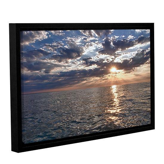 Brushstone Lake Erie Sunset I Gallery Wrapped Floater-Framed Canvas Wall Art