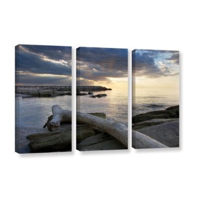 Brushstone Lake Erie Sunset II 3-pc. Gallery Wrapped Canvas Set