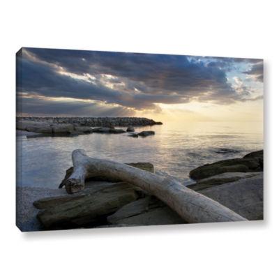 Brushstone Lake Erie Sunset II Gallery Wrapped Canvas Wall Art