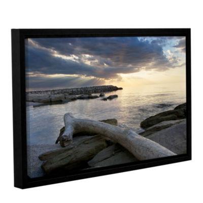 Brushstone Lake Erie Sunset II Gallery Wrapped Floater-Framed Canvas Wall Art