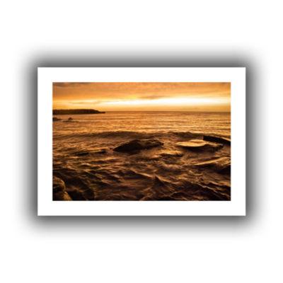 Brushstone Lake Erie Sunset III Canvas Wall Art