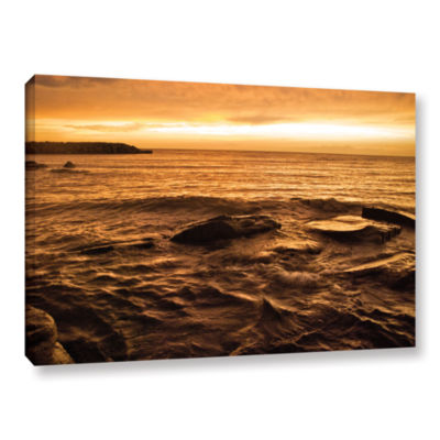 Brushstone Lake Erie Sunset III Gallery Wrapped Canvas