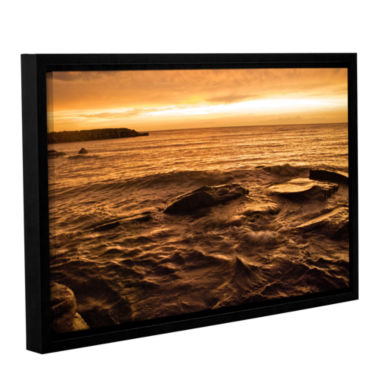 Brushstone Lake Erie Sunset III Gallery Wrapped Floater-Framed Canvas