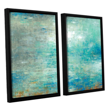 Brushstone Lake Rain 2-pc. Floater Framed Canvas Set