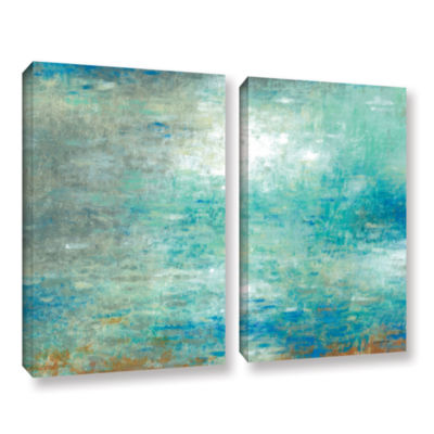 Brushstone Lake Rain 2-pc. Gallery Wrapped CanvasWall Art