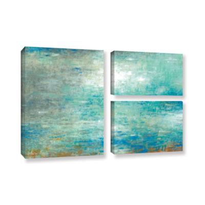 Brushstone Lake Rain 3-pc. Gallery Wrapped CanvasFlag Set