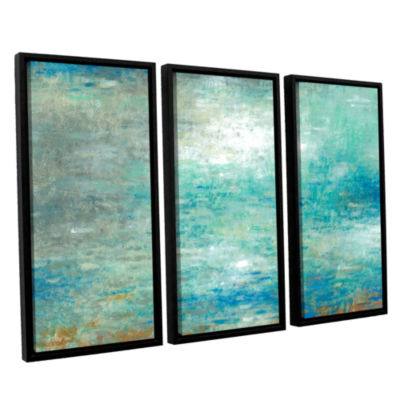 Brushstone Lake Rain 3-pc. Floater Framed Canvas Set